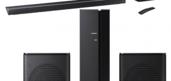 Samsung 330-Watt 3.1.2 Channel Sound Bar with Wireless Subwoofer & Rear Speakers