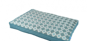 Totally Pooched Enlighten Flat Pet Bed - Large - Light Blue/White